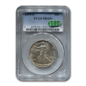 Click now to see the BUY IT NOW Price! 1919 S WALKING LIBERTY HALF DOLLAR MS 65  PCGS CAC
