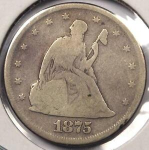 1875 P SEATED LIBERTY TWENTY CENT COIN  20C 1875     KEY DATE