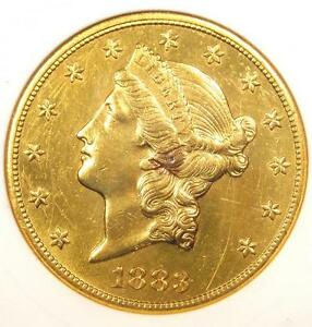 1883 CC LIBERTY GOLD DOUBLE EAGLE $20   ANACS AU DETAILS   CARSON CITY COIN
