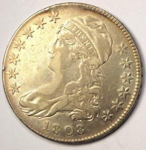 1808 CAPPED BUST HALF DOLLAR 50C   SHARP DETAILS    COIN   NICE LUSTER