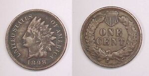 1898  INDIAN CENT FINE  VF
