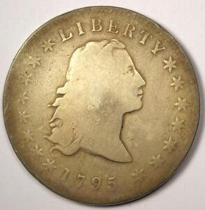 1795 FLOWING HAIR BUST SILVER DOLLAR $1   GOOD DETAILS    TYPE COIN