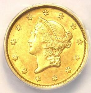 1853 LIBERTY GOLD DOLLAR COIN G$1   ANACS AU58 DETAILS    CERTIFIED COIN