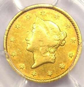 1849 C LIBERTY GOLD DOLLAR G$1   PCGS XF DETAILS  EF      CHARLOTTE COIN
