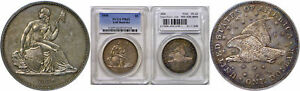 1836 SEATED LIBERTY DOLLAR PCGS PR 62 J 60 RESTRIKE