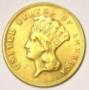 1870 INDIAN THREE DOLLAR GOLD COIN  $3    XF DETAILS  EF     DATE COIN