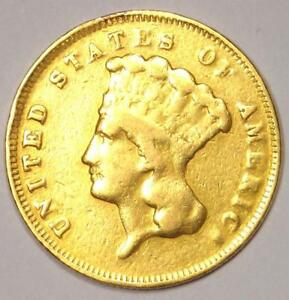 1878 INDIAN THREE DOLLAR GOLD COIN  $3    VF DETAILS    COIN