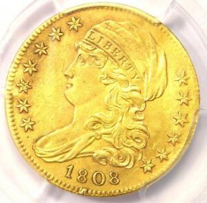 1808 CAPPED BUST GOLD HALF EAGLE $5   PCGS XF DETAILS  EF     GOLD COIN
