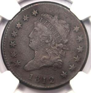 1812 CLASSIC LIBERTY HEAD LARGE CENT 1C   NGC XF DETAILS  EF     THIS SHARP