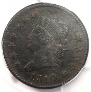 1810/09 CLASSIC LIBERTY LARGE CENT COIN 1C   CERTIFIED PCGS XF DETAILS  EF