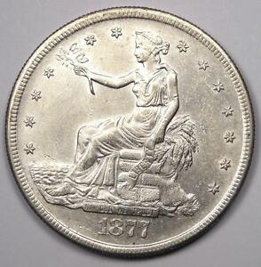 1877 S TRADE SILVER DOLLAR T$1   SHARP DETAILS    EARLY TYPE COIN