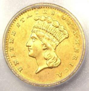 1860 S INDIAN GOLD DOLLAR  G$1 COIN    CERTIFIED ICG MS60  UNC    $2 750 VALUE