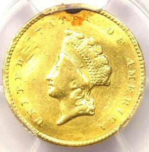1855 O TYPE 2 INDIAN GOLD DOLLAR  G$1 COIN    PCGS VF DETAILS