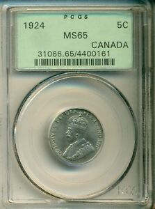 Click now to see the BUY IT NOW Price! PCGS 1924 5 CENTS MS65 CANADA 31066.65/4400161