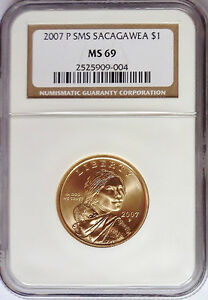 Click now to see the BUY IT NOW Price! 2007 P & D SMS SACAGAWEA $1 MS69 NGC MS 69 SATIN LOW POP TOP POP