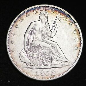 1852 O SEATED LIBERTY HALF DOLLAR CHOICE XF  E342 UHTX