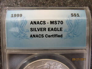 Click now to see the BUY IT NOW Price! 1999 MS 70 LADY LIBERTY SILVER EAGLE DOLLAR 1 TROY OZ.  POP 65 OF 7 480 000