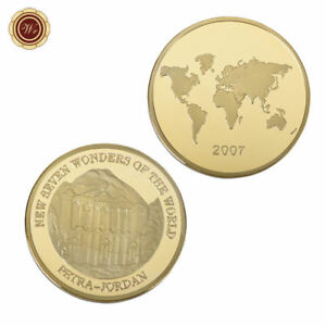 WR PETRA   JORDAN NEW SEVEN WONDERS 24K GOLD COMMEMORATIVE COIN  COLLECTION
