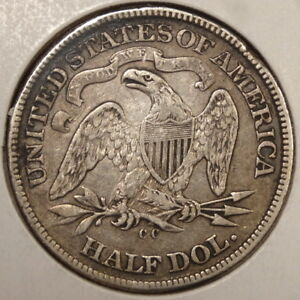 1872 CC SEATED LIBERTY HALF DOLLAR  CARSON CITY MINT DATE   DISCOUNTED