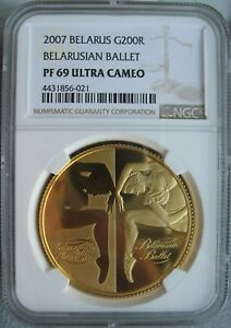 Click now to see the BUY IT NOW Price! BELARUS 2007 1OZ. GOLD 200 ROUBLES NGC PF 69 ULT. CAMEO