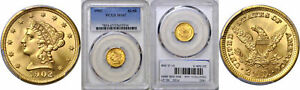 1902 $2.50 GOLD COIN PCGS MS 67