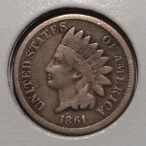 1861 INDIAN HEAD CENT  VG