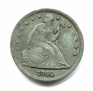 1844 LIBERTY SEATED SILVER DOLLAR LOW MINTAGE