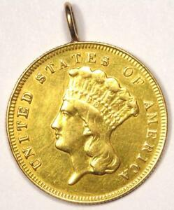 1878 INDIAN THREE DOLLAR GOLD COIN  $3    XF DETAILS  EX JEWELRY     COIN