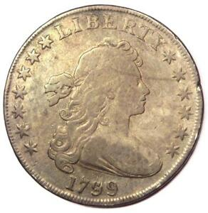 1799 DRAPED BUST SILVER DOLLAR $1   FINE DETAILS    TYPE COIN