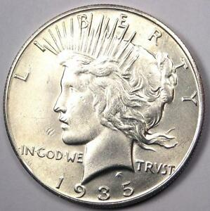 1935 S PEACE SILVER DOLLAR $1   EXCELLENT CONDITION   NICE LUSTER    DATE