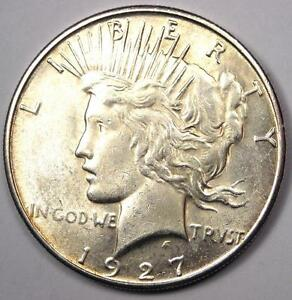 1927 S PEACE SILVER DOLLAR $1   EXCELLENT CONDITION   NICE LUSTER    DATE