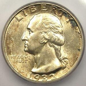 1932 D WASHINGTON QUARTER 25C   ICG AU55    KEY DATE COIN