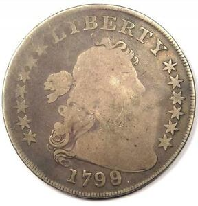 1799/8 DRAPED BUST SILVER DOLLAR $1   GOOD DETAILS     OVERDATE COIN