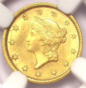 1852 LIBERTY GOLD DOLLAR COIN G$1   NGC UNCIRCULATED DETAIL  UNC     MS COIN