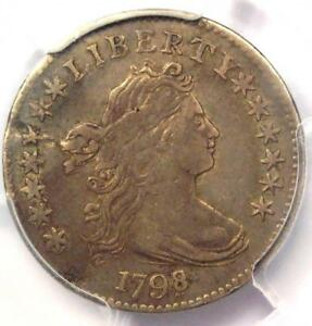 1798/7 DRAPED BUST DIME 10C  16 STARS REVERSE    PCGS VF DETAILS    COIN