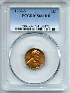 1968 S LINCOLN MEMORIAL CENT PENNY PCGS MS 66   RD SAN FRANCISCO MINT AP658