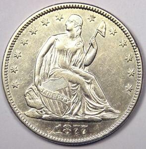 1877 SEATED LIBERTY HALF DOLLAR 50C   SHARP DETAILS   NICE LUSTER    COIN