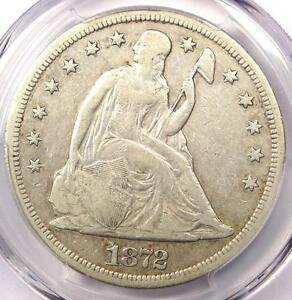 1872 S SEATED LIBERTY SILVER DOLLAR $1 COIN   PCGS VF30      $1 900 VALUE