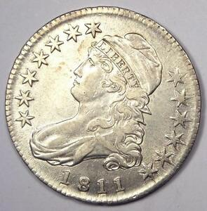 1811 CAPPED BUST HALF DOLLAR 50C   SHARP AU DETAILS    DATE COIN