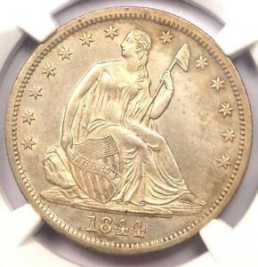 1844 O SEATED LIBERTY HALF DOLLAR 50C   NGC UNCIRCULATED    MS BU UNC COIN