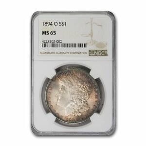 Click now to see the BUY IT NOW Price! 1894 O MORGAN DOLLAR MS 65 NGC   SKU159904