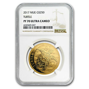 Click now to see the BUY IT NOW Price! 2017 NIUE 1 OZ GOLD $250 HAWKSBILL TURTLE PR 70 NGC   SKU159284