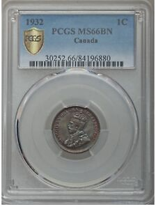 Click now to see the BUY IT NOW Price! 1932 CANADA 1 CENT PCGS GRADED MS 66 BN. SOLO FINEST.