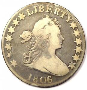 1806 DRAPED BUST HALF DOLLAR 50C   FINE DETAILS CONDITION    EARLY COIN