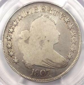 1807 DRAPED BUST HALF DOLLAR 50C   PCGS VG DETAILS    CERTIFIED COIN