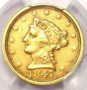 1847 O LIBERTY GOLD QUARTER EAGLE $2.50   CERTIFIED PCGS XF DETAILS    DATE