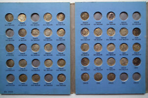 ROOSEVELT DIME COLLECTION IN WHITMAN 9029 1946   1964D 38 TOTAL DIMES