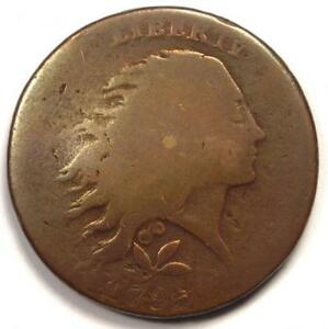 1793 FLOWING HAIR WREATH LARGE CENT 1C    COIN