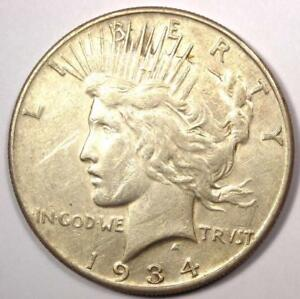 1934 S PEACE SILVER DOLLAR $1   SHARP XF DETAILS    KEY DATE
