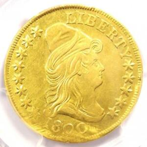 1800 CAPPED BUST GOLD EAGLE $10 COIN   CERTIFIED PCGS AU DETAILS